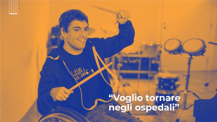 «Voglio tornare negli ospedali»: Matteo vuole suonare Tutta un'altra musica
